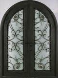 Mão popular - arco feito ferro feito superior portas da rua da entrada dobro