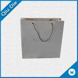 Bolso de mano blanco del papel de la manera para las compras