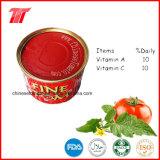 중국 공장에서 통조림으로 만들어진 토마토 풀 410g