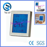Pantalla táctil del panel de metal Suelo Agua Regulador de calefacción Temperatura (MT-10-F)