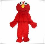 Costume rosso della mascotte di Elmo della peluche della mascotte lunga del Sesame Street