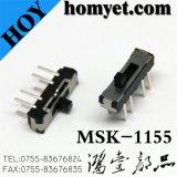 Tipo interruptor de alavanca do MERGULHO da fonte 8pin da fábrica da posição do interruptor de corrediça três (MSK-1155)