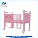 Hohes aus rostfreiem Stahl Schienen-Kind-Bett mit zwei Kurbeln