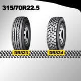 Pneumático radial resistente 315/70r22.5 do caminhão, 315/80r22.5, tubo do pneumático 385/65r22.5