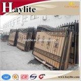 Qualità scorrevole forgiata modellata del cancello del ferro della strada privata della rete fissa dell'oscillazione automatica alta buona