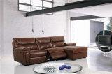 Muebles de cuero del sofá de Italia del ocio (717)