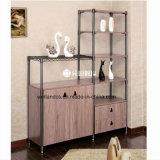 Muebles Acero-De madera del almacenaje de la esquina de la sala de estar o de oficina de la alta calidad 2017