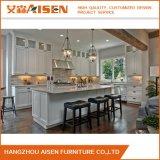Gabinete de cozinha de madeira chinês por atacado branco popular