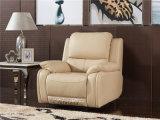 El sofá de la sala de estar con el sofá moderno del cuero genuino fijó (768)