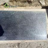 Mattonelle nere fiammeggiate della pietra per lastricati della quarzite