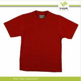 Nach Maß Ansatz-T-Shirt V der Baumwollweißen Männer (KY-T0521)