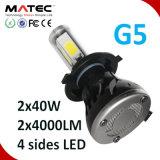 Éclairage LED de faisceau de la lampe Hi/Lo d'éclairage LED d'ÉPI de la haute énergie 40W 4000lm pour des pièces d'auto