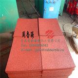 耐火性のゴム製フロアーリングの抗菌性の床のマットのゴム製工場直接屋内ゴム製タイルのスリップ防止ゴム製フロアーリング