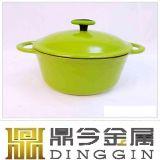 鋳鉄の円形のエナメルのカセロールの鍋