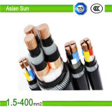 cable eléctrico aislado PVC de la corriente continua De 0.6/1kv XLPE/