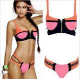 Vêtements de bain complétés estampés de bikini de Bandeau