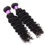 Weave Curly profundo natural do cabelo do Virgin do rei Não processado Virgin Peruano Cabelo 3bundles 7A da onda profunda peruana do cabelo humano do cabelo do Virgin