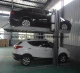 Dois sistemas do estacionamento do carro de borne/elevadores hidráulicos do carro para o porão