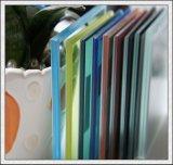 Azul/verde/bronze/vidro laminado da cor-de-rosa/amarelo 6.38-42.30mm para o edifício