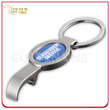 Кольцо таможни напечатанное & Epoxy логоса металла бутылки консервооткрывателя ключевое