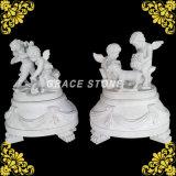 Het marmer sneed Standbeeld het Van de vier seizoenen van Jonge geitjes