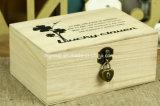 Caja de madera delicada antigua modificada para requisitos particulares del lujo para el almacenaje del cigarro