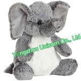 Le bébé de la CE badine le jouet pourpré de peluche d'éléphant de peluche molle