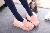 Moda sapatos rosa de mulher casual no inverno