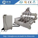 Ranurador rotatorio del CNC del grabado de madera del eje de China 4 con las pistas multi