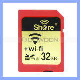 Mikro-Sd WiFi Card Real Capacity C10 10-25m Working Distance Wirelessly Share WiFi Sd Card Memory Card