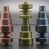 De kleurrijke 6in1 Spijker van het Titanium voor De Waterpijp van het Glas van het Booreiland