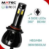 Jogos Hb3 Hb4 H1 H3 H7 H8 H9 H11 dos faróis do diodo emissor de luz do carro de Matec&Boorin G6