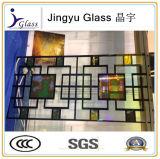 Vidrio manchado tasado fábrica con varios diseños