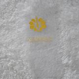服装のための白い地上の黄色いLettelsの印刷ファブリック