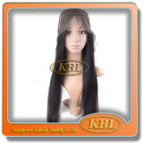 Peruca dianteira de seda do laço no cabelo brasileiro do Virgin