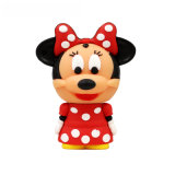 Animal Pendrive de PVC personnalisé par lecteur flash USB de Madame Mouse Cartoon