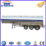 3 remorque de camion-citerne aspirateur d'alliage d'aluminium de l'essieu 52cbm