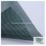 Material revestido do toldo do engranzamento do poliéster do PVC para a cortina de indicador