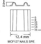 Mcf 시리즈는 2개의 물결 모양 잠그개 못 Bostitch Mcf16 공구를 적합했다