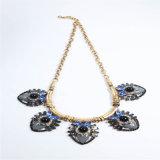 Collar de imitación de la joyería de la nueva del item de la resina manera de acrílico de cristal de las piedras