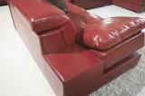 現代デザイン余暇の革ソファのコーナーの部門別の居間のソファー