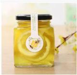 Tarros de cristal cuadrados para la miel, alimento, salmuera, botellas de cristal del almacenaje