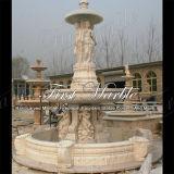 Fontana bianca classica di Carrara per la decorazione domestica Mf-152