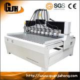 Машина маршрутизатора CNC деревянного каменного пластическая масса на основе акриловых смол Dt1813-10 многошпиндельная