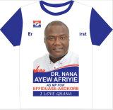 T-shirt bon marché de campagne d'élection de Softtextile d'impression de mode en gros