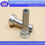 Peça de alumínio personalizada fábrica do CNC do prendedor brilhante