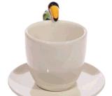 Tasse et soucoupe de café en céramique de thé de traitement animal fait sur commande bon marché