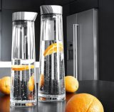 1.5L ouvem a chaleira da água do armazenamento da água de gelo do frasco de vidro da resistência
