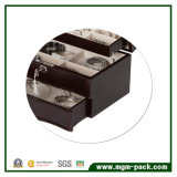 Simple Design Black Wooden Jewelry Box with Locking