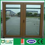 Porta de alumínio do Casement do frame da cor de madeira